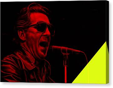 Musicians Canvas Print - Jerry Lee Lewis Collection by Marvin Blaine