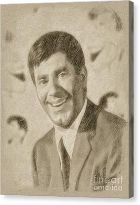 Noir Canvas Print - Jerry Lewis, Actor And Comedian by Frank Falcon