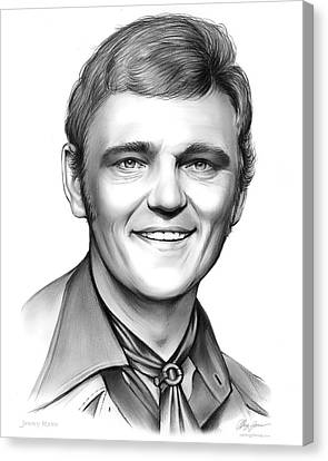 Jerry Reed Canvas Print by Greg Joens