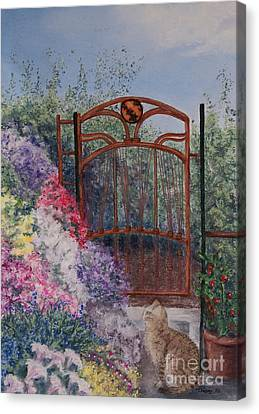 Canvas Print featuring the painting Jerrys Garden by Stanza Widen