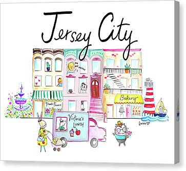 Jersey City Canvas Print by Ashley Lucas