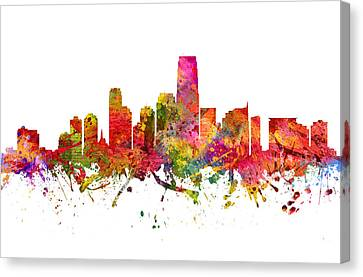 Jersey City Cityscape 08 Canvas Print by Aged Pixel