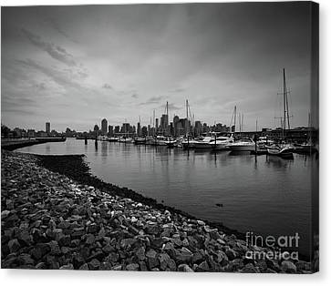 Jersey City Yacht Club Canvas Print by Valerie Morrison