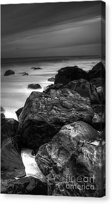 Jersey Shore At Night Canvas Print by Paul Ward