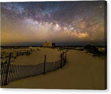 Jersey Shore Starry Skies And Milky Way Canvas Print