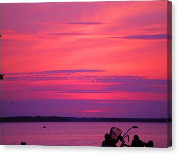 Canvas Print featuring the photograph Jersey Sunset by Susan Carella