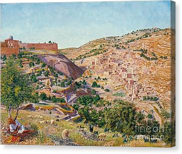 Jerusalem And The Valley Of Jehoshaphat  Canvas Print