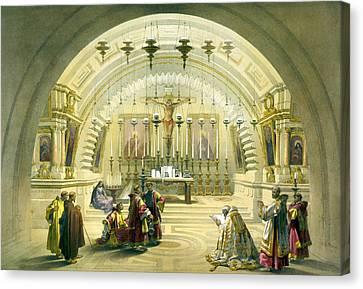 Jerusalem Canvas Print - Jerusalem Calvery by Munir Alawi