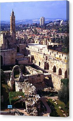 Jerusalem From The Tower Of David Museum Canvas Print by Thomas R Fletcher