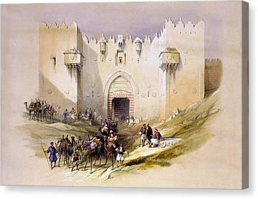 Jerusalem Canvas Print - Jerusalem Gate by Munir Alawi