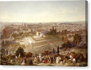 Entrance Canvas Print - Jerusalem In Her Grandeur by Henry Courtney Selous