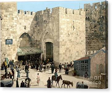 Jerusalem: Jaffa Gate Canvas Print by Granger