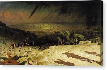 Setting Canvas Print - Jerusalem by Jean Leon Gerome