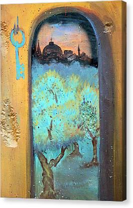 Jerusalem Key Canvas Print by Munir Alawi