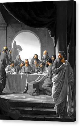 Jerusalem Last Supper Canvas Print by Munir Alawi