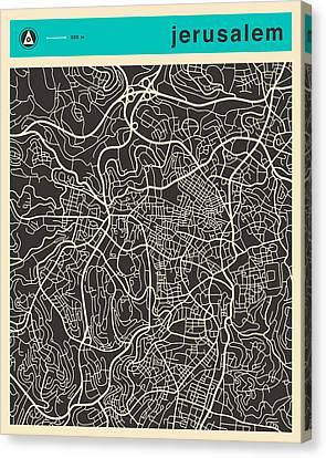 Jerusalem Map 1 Canvas Print
