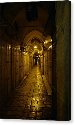 Canvas Print featuring the photograph Jerusalem Of Copper 1 by Dubi Roman