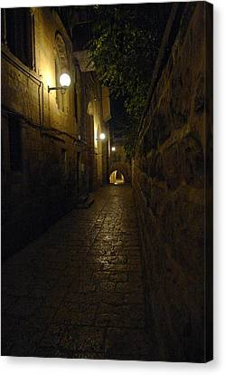 Canvas Print featuring the photograph Jerusalem Of Copper 2 by Dubi Roman