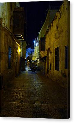 Canvas Print featuring the photograph Jerusalem Of Copper 3 by Dubi Roman