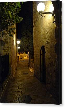 Canvas Print featuring the photograph Jerusalem Of Copper 4 by Dubi Roman