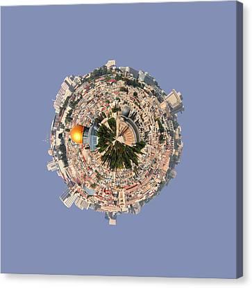 Jerusalem-small Planet Canvas Print