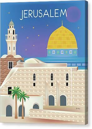 Kotel Canvas Print - Jerusalem Vertical Scene by Karen Young