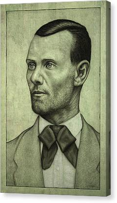 Jesse James Canvas Print by James W Johnson
