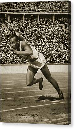 Jesse Owens Canvas Print by American School
