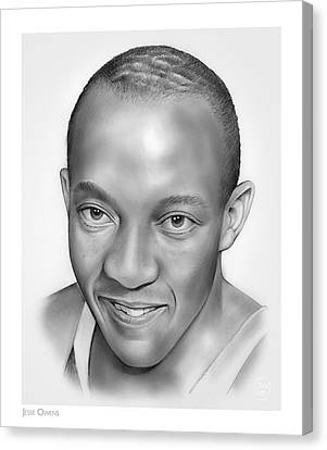 Jesse Owens Canvas Print by Greg Joens