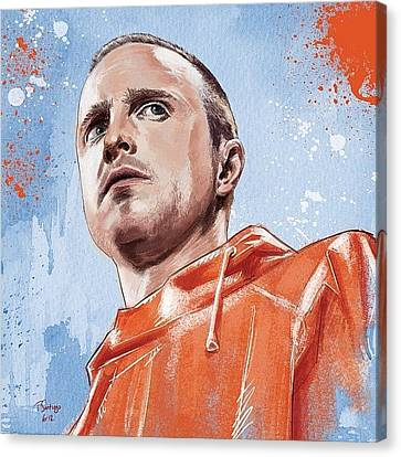 Jesse Pinkman Canvas Print by Tony Santiago