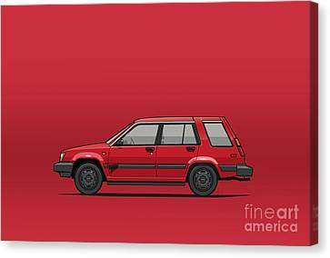 Jesse Pinkman's Crappy Red Toyota Tercel Sr5 4wd Wagon Al25 Canvas Print by Monkey Crisis On Mars