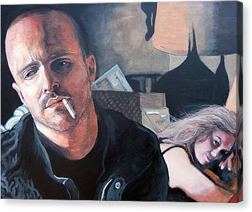 Canvas Print featuring the painting Jesse's Girl by Tom Roderick