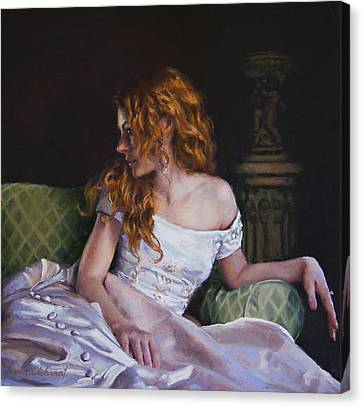 Jessica Daydreaming Canvas Print by Jean Hildebrant