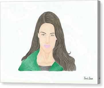 Jessica Lowndes Canvas Print