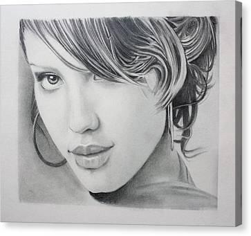 Celeb Canvas Print - Jessica by Ted Castor