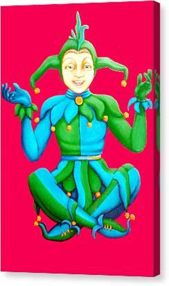 Jester Canvas Print by Barbara Stirrup