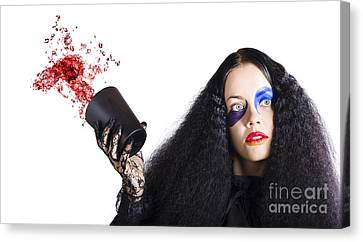 Jester Throwing Away Wine Canvas Print by Jorgo Photography - Wall Art Gallery