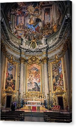 Ignatius Canvas Print - Jesuit Church Rome Italy by Joan Carroll