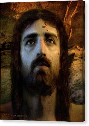 Face Canvas Print - Jesus Alive Again by Ray Downing