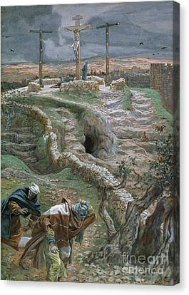 Jesus Alone On The Cross Canvas Print by Tissot
