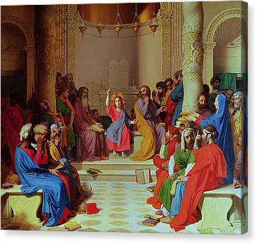 Ingres Canvas Print - Jesus Among The Doctors by Ingres