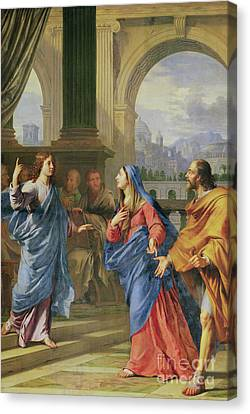 Jesus Among The Doctors Canvas Print by Philippe de Champaigne
