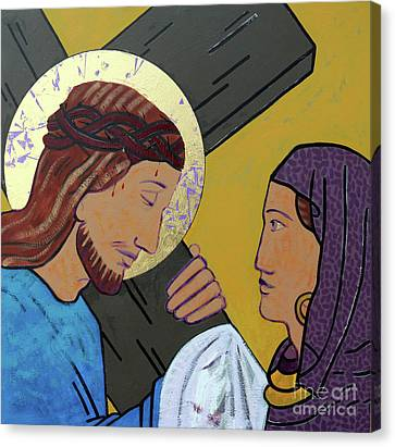 Saint Hope Canvas Print - Jesus And Veronica by Sara Hayward