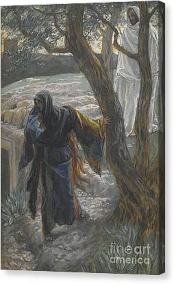 Jesus Appears To Mary Magdalene Canvas Print by Tissot