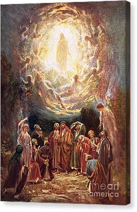 Jesus Ascending Into Heaven Canvas Print by William Brassey Hole