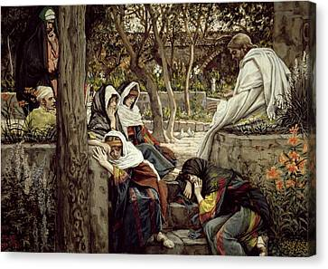 Jesus At Bethany Canvas Print by Tissot