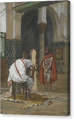 Jesus Before Pilate Canvas Print by Tissot