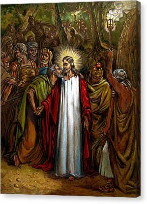 Jesus Betrayed Canvas Print