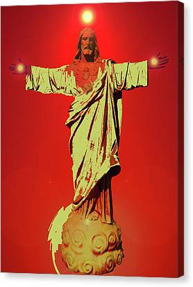 Jesus Bless No. 01 Canvas Print by Ramon Labusch