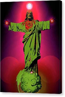 Jesus Bless No. 03 Canvas Print by Ramon Labusch